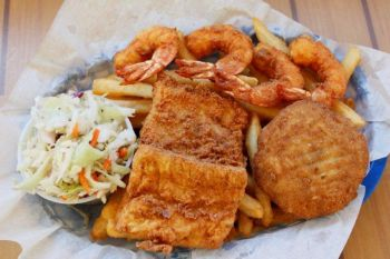 Atlantic Coast Café Hatteras Island, Fried Seafood Basket